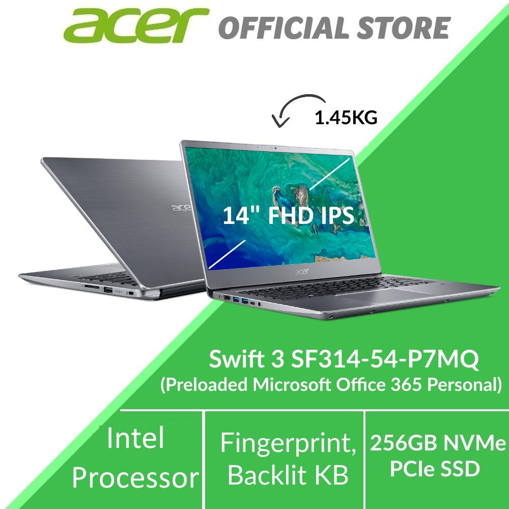 Acer Swift 3 SF314-54-P7MQ Thin and Light Narrow Border Design Laptop - Preloaded Microsoft Office 365 Personal (Modern PC)