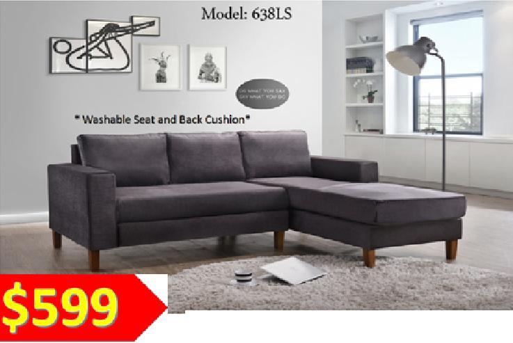 [MAAYRISE] Designer Fabric L-Shaped Sofa