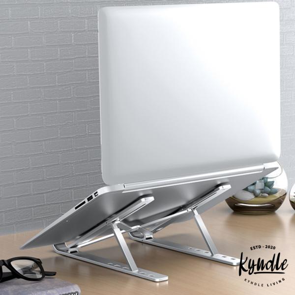 Non Slip Aluminum Alloy Portable Laptop Stand -Iridium Silver/Selenite Grey/Phantom Black