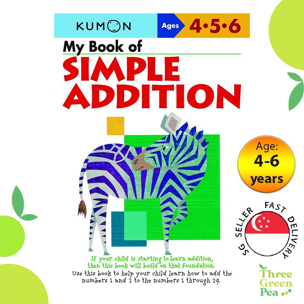 Kumon Math Skills Workbooks - My Book of Simple Addition