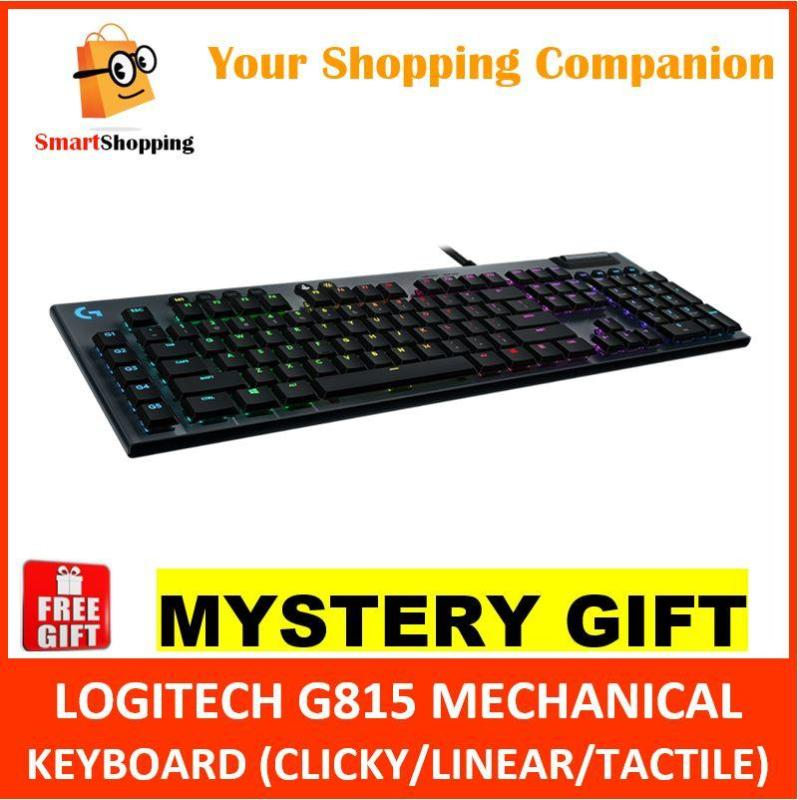 Logitech G815 Mechanical Gaming Keyboard Linear Clicky Tactile SG Warranty (920-009222 920-009223 920-009224) Singapore