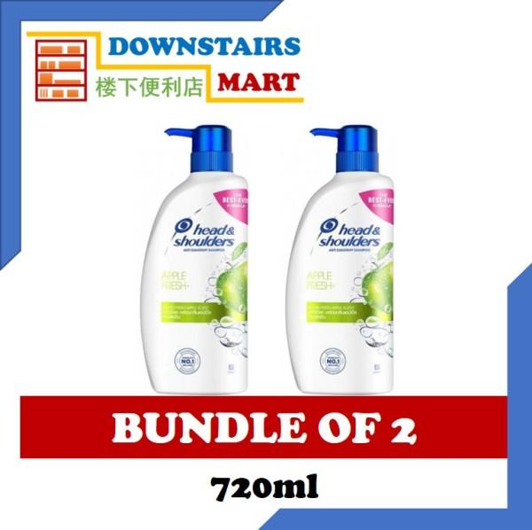 Buy [Bundle of 2] Head & Shoulders Apple Fresh Shampoo 720ml x 2 Singapore