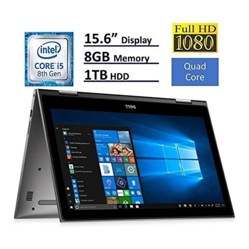 2018 Dell Inspiron 15 5000 Flagship 15.6 inch Full HD IPS Touchscreen 2-in-1 Laptop PC, Intel Core i5-8250U Quad-Core, 8GB DDR4, 1TB HDD, Bluetooth 4.2, 802.11ac, MaxxAudio Pro, Windows 10