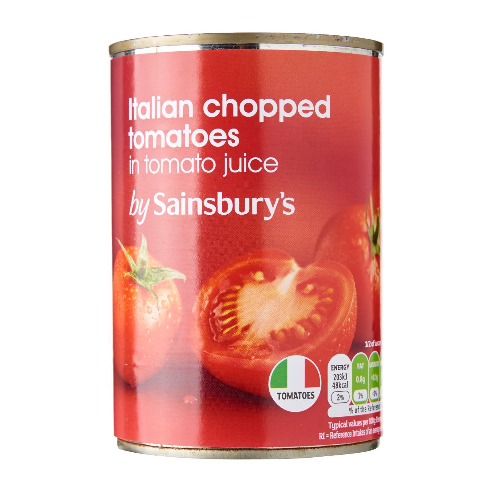 Sainsbury's Chopped Tomatoes In Tomato Juice Carton