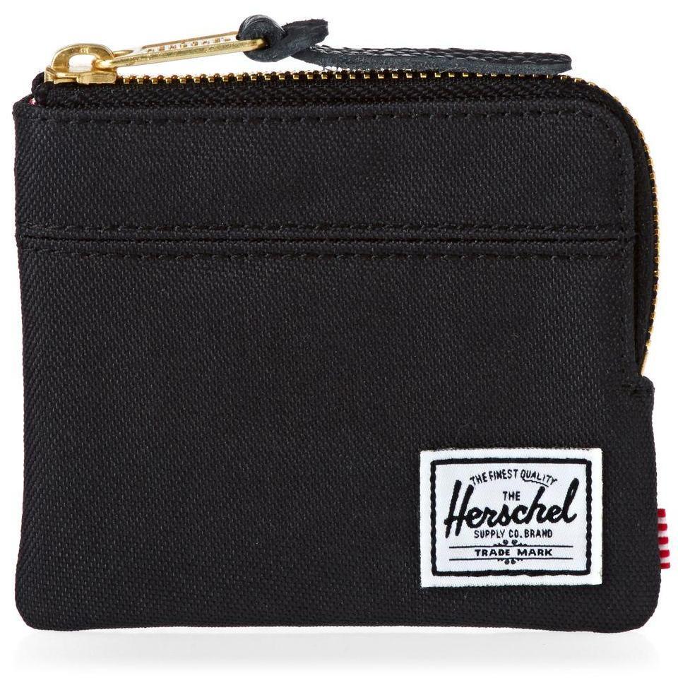 Herschel Supply Co. Johnny Wallet Coin Pouch Key Purse Card Holder Black RFID