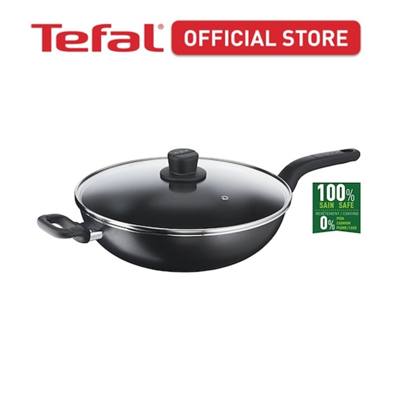 Tefal Cook Easy Chinese Wok 32cm w/lid B50394 Singapore