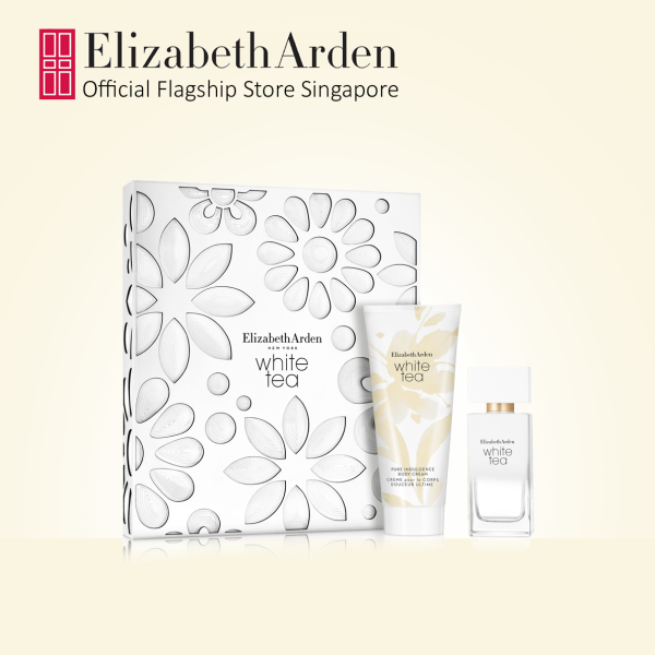 Buy Elizabeth Arden White Tea Floral Fragrance and Perfumed Body Cream 2pc Set: EDT 50ml, Body Cream 100ml Singapore