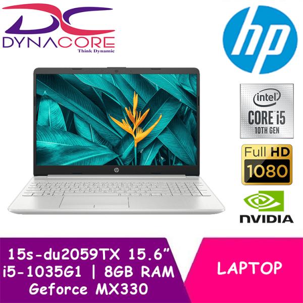DYNACORE - HP Laptop 15s 15s-du2059TX | 15.6 FHD with Backlit keyboard | i5-1035G1 | 8GB RAM | 512GB PCIe SSD | Geforce MX330 | 1 Yr HP Onsite Warranty