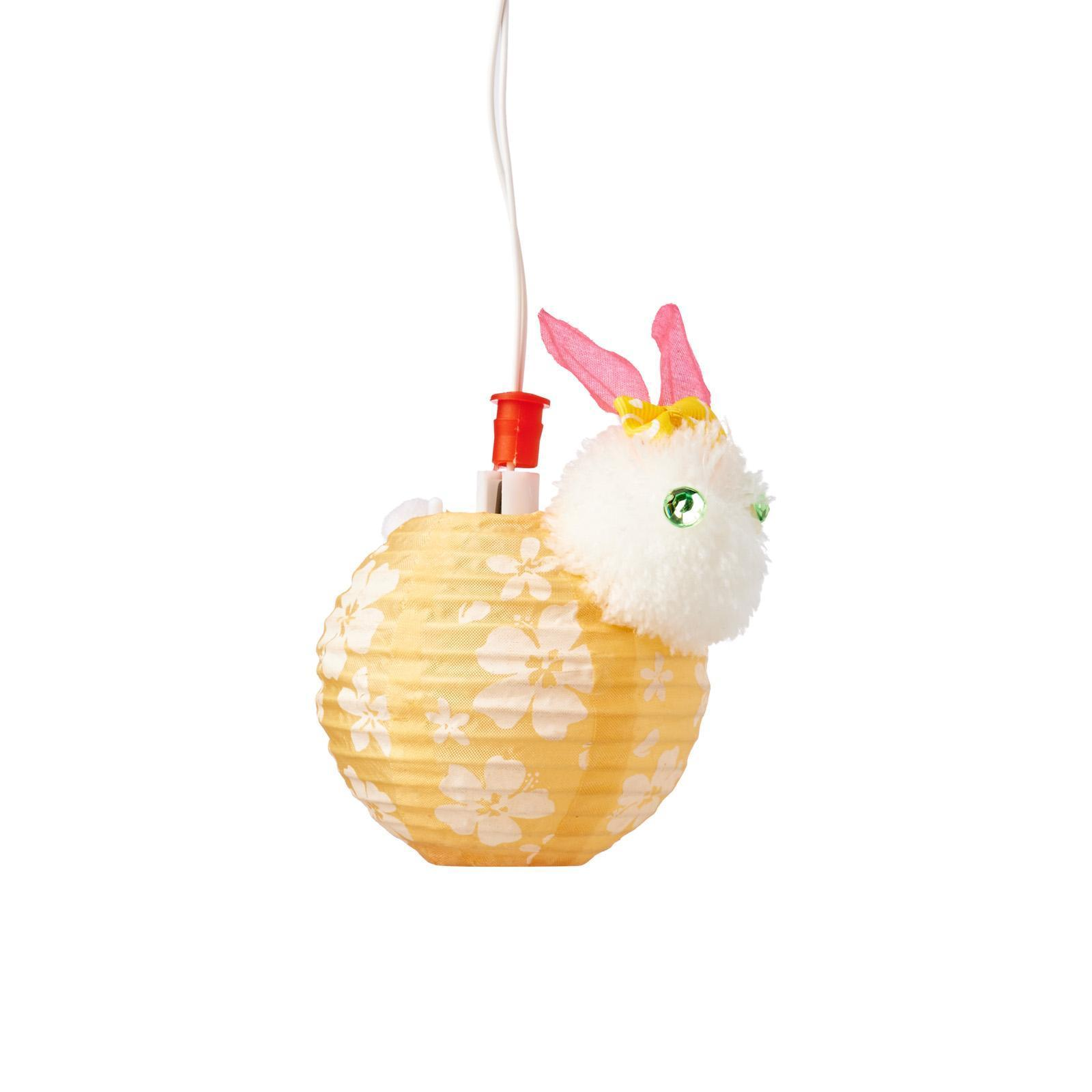 3PC Small Floral Rabbit Led Lantern