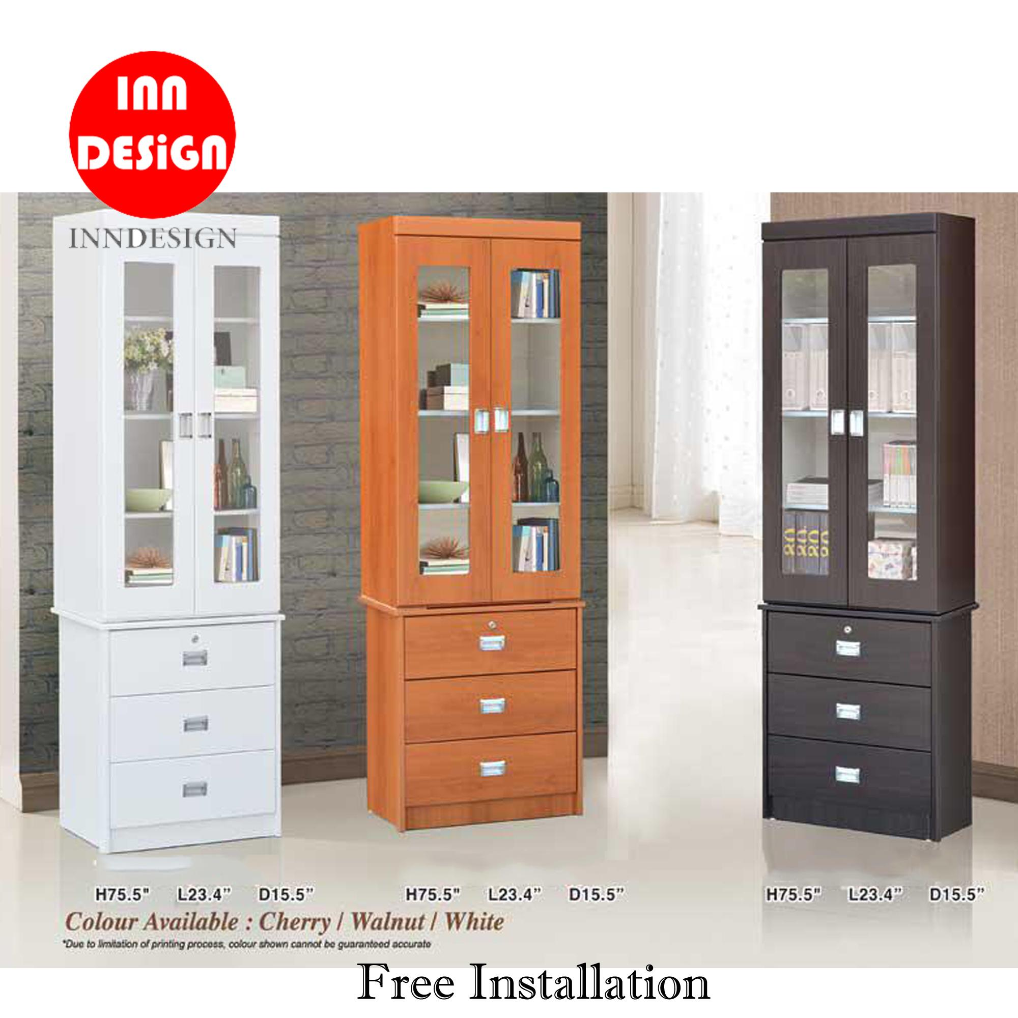 Yuana Bookshelf / Display Bookshelf With Drawer (Free Delivery and Installation)