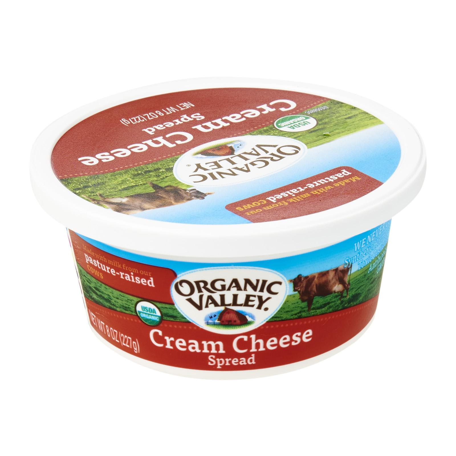 Organic Valley Cream Cheese Spread Tubs