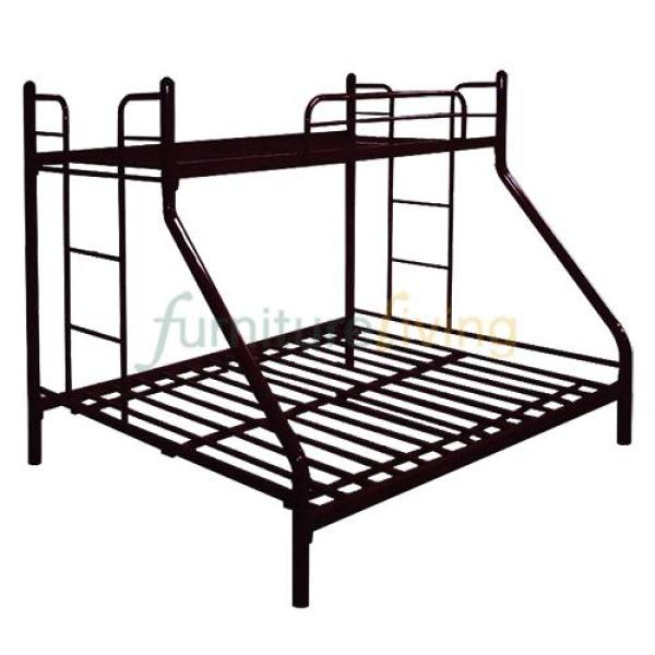 Furniture Living Metal Bunk Bedframe (Black)