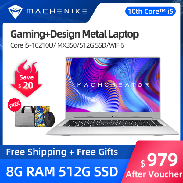 [New Arrival]Machenike LF35 10th Generation Intel Core i5 MX350 gaming laptop thin and light i5-10210U MX350 Graphics 15.6-inch Full Screen Business Office Student Gaming Laptop ferr Free warranty windows 10 computer notebook