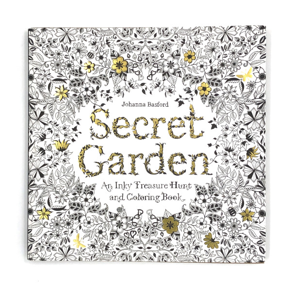 Secret Garden - An Inky Treasure Hunt and Coloring Book (96pages)