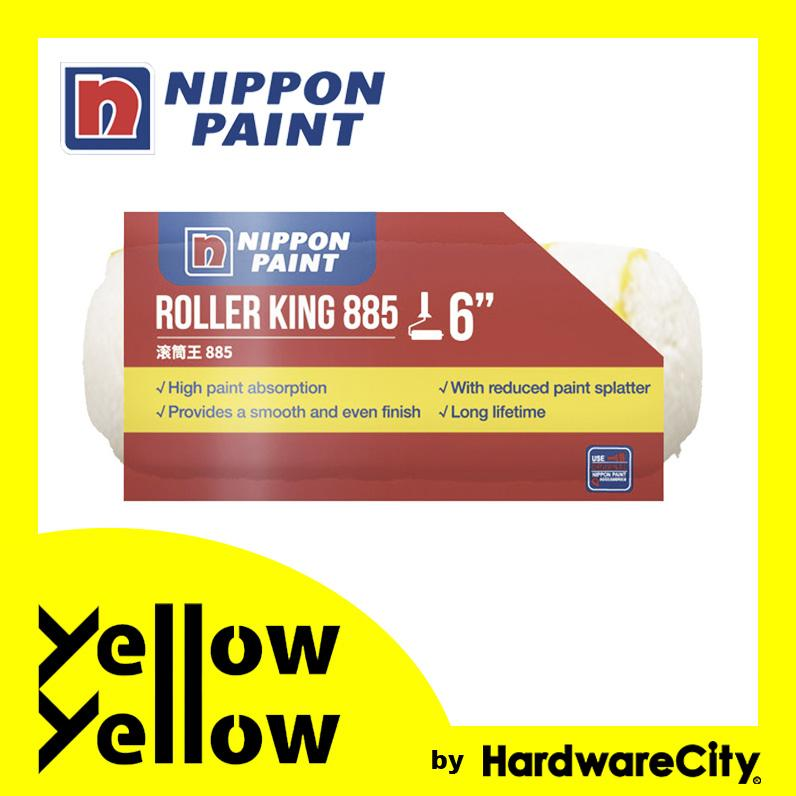Nippon Paint DIY Long Hair Roller Sleeve Refill (SIZES + COLOR AVAILABLE) - ROLLER KING Paint Roller Refill
