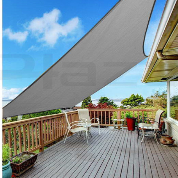 Sun Shade Mesh Canopy Privacy Screen Windscreen Hot Resistant Protection Shelter 90% UV Blocking for Gazebo Patio Garden Outdoor Greenhouse Flower Barn Kennel Fence Grey