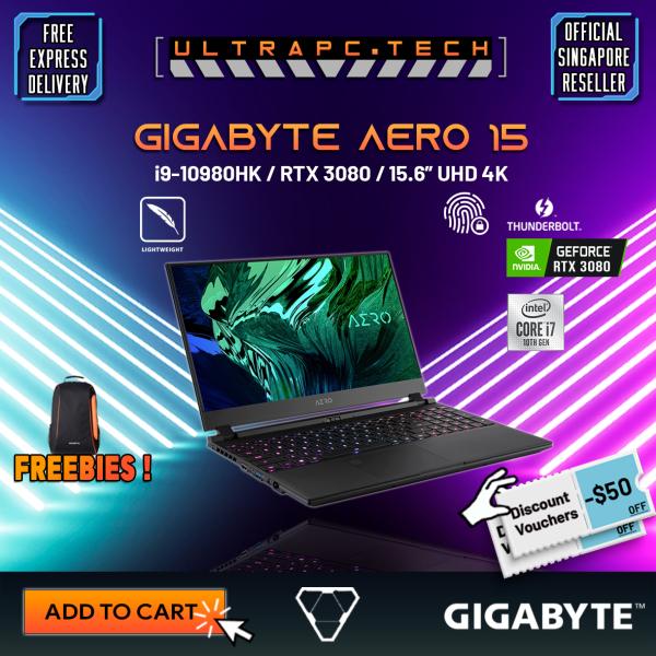 [Free Delivery] Gigabyte Aero 15 OLED YC Laptop (I9-10980HK/64GB DDR4/2TB SSD/RTX3080 8GB DDR6/15.6UHD 4K/W10P)-(2Y)