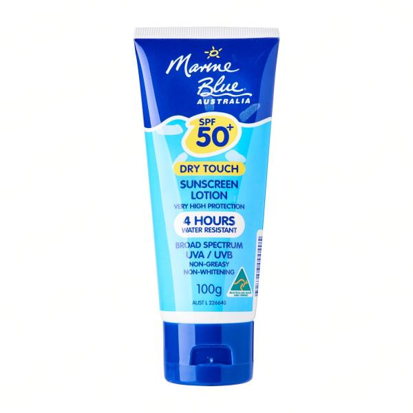 Buy Marine Blue Dry Touch Sunscreen Lotion SPF50+ Singapore