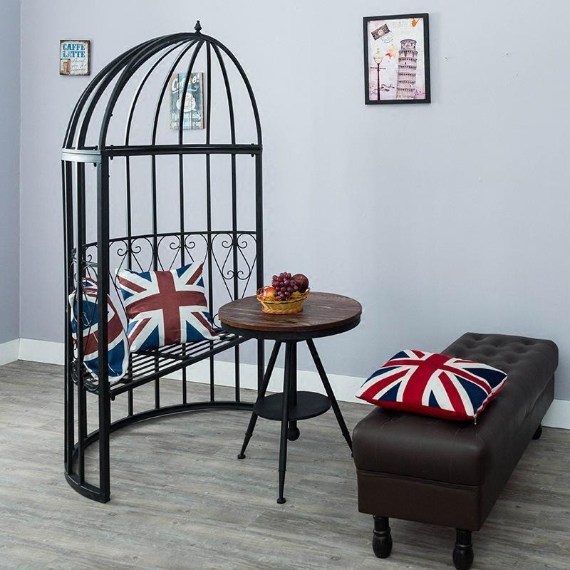 Creative Iron Art Large Outdoor Birdcage Wing Chair Couples Courtyard Seat Cafe Birdcage Card Slot Outdoor Tables And Chairs