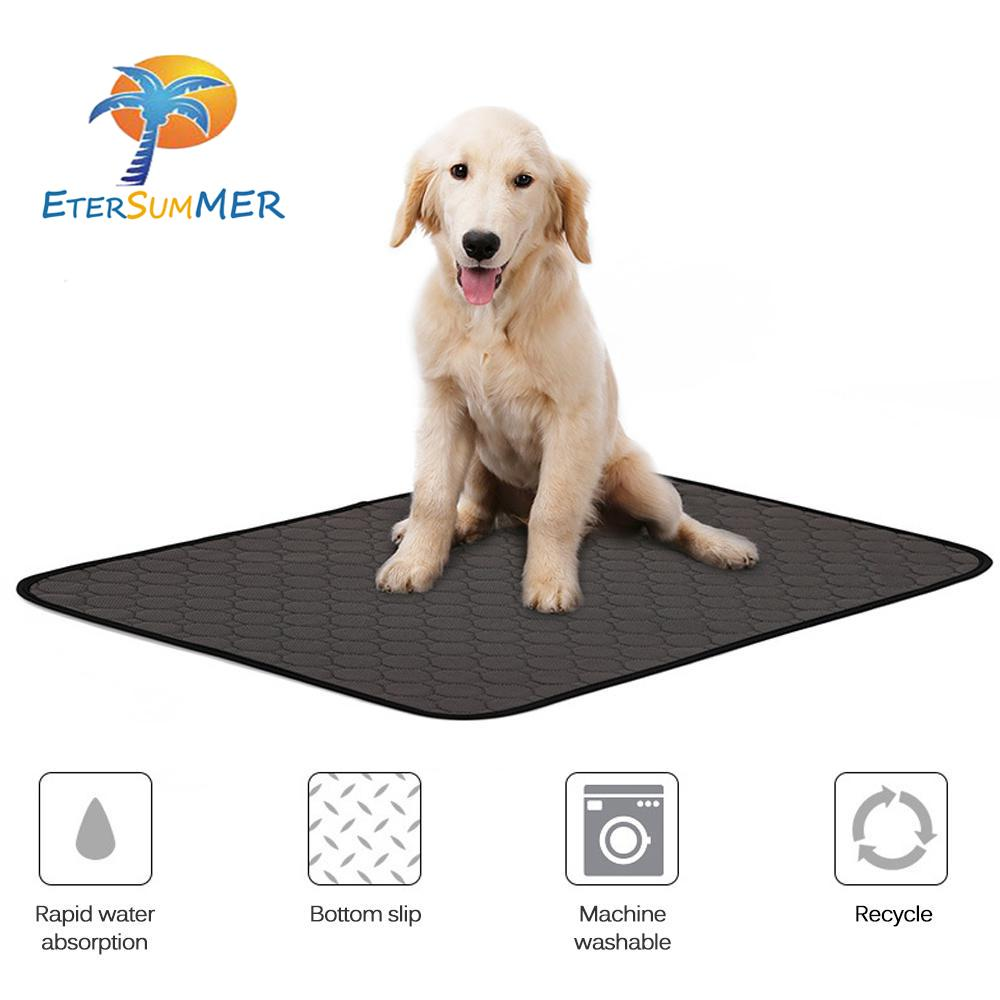 Etersummer Dogweepads, Washable Pet Pee Pad With Anti-Skid Bottom, Water Absorption Crate Food Mat For Puppy Dog Kitty Cat Training&travelling By Etersummer Store.