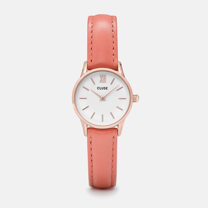 Original Cluse Watch La Vedette Rose Gold White/Flamingo 24 mm Malaysia