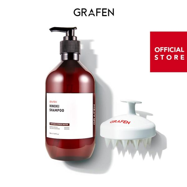 Buy [GRAFEN] Hinoki shampoo 500ml+Edge finger(White) Singapore