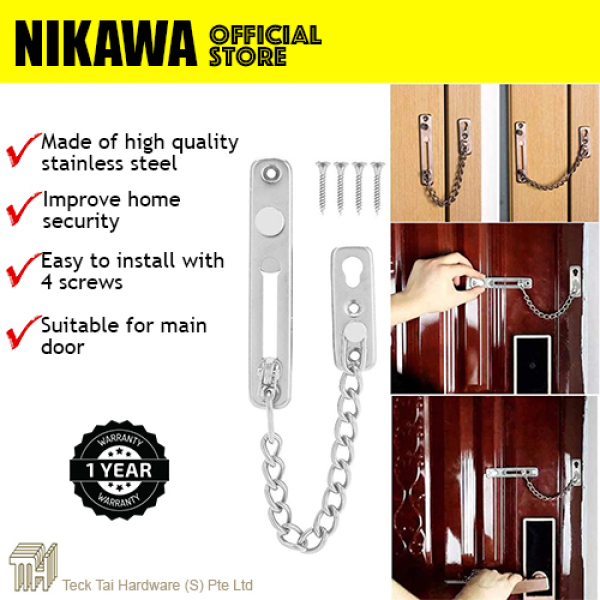 NIKAWA Stainless Steel Door Chain CS1001