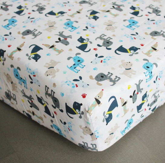 Baby Cot Fitted Sheet (130cm X 70cm) 100% Cotton Fitted Crib Sheet Newborn Bedding Sheet Baby Bed Mattress Cover Protector Baby Cot Sheet.