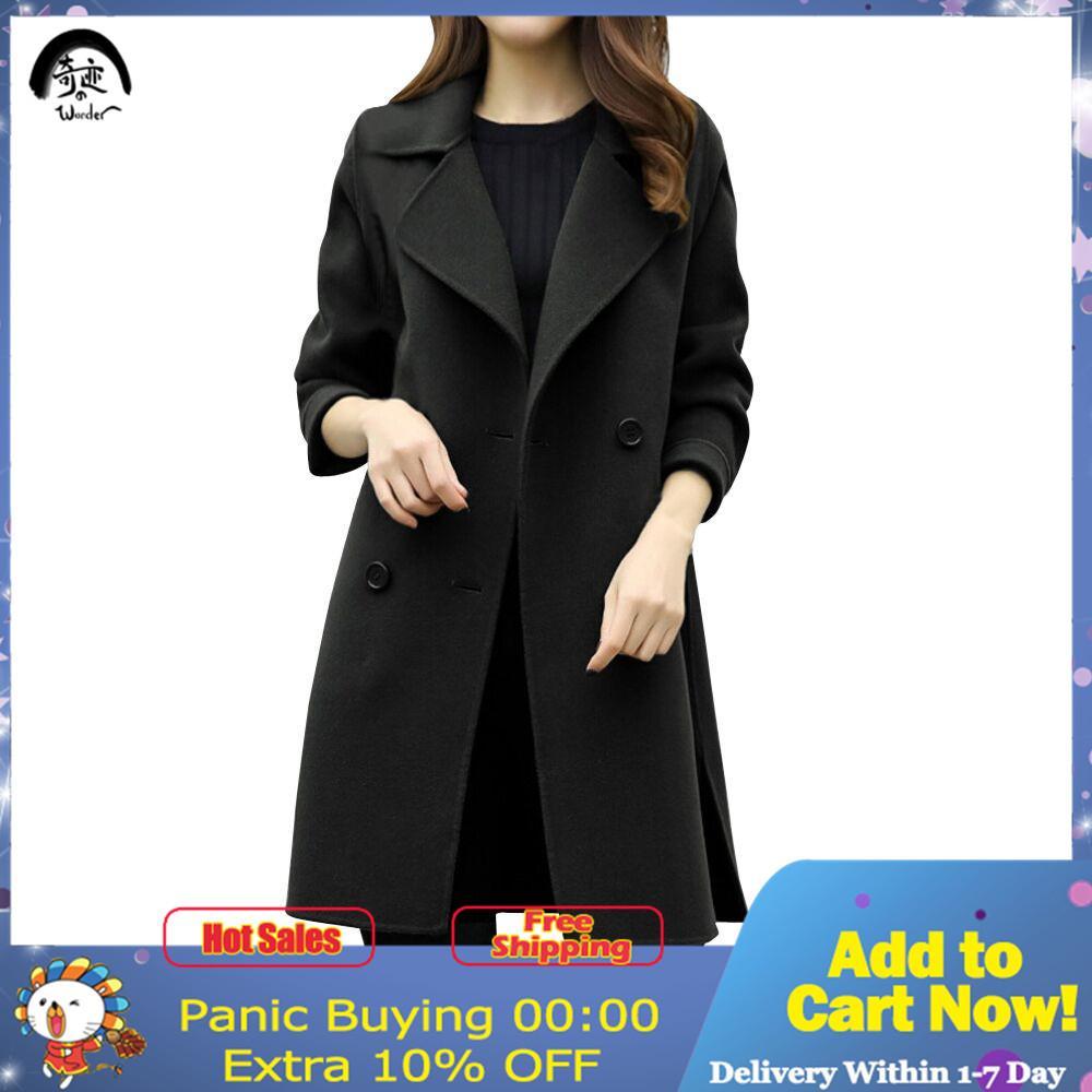 Stylish Womens Autumn Winter Jacket Casual Outwear Parka Cardigan Slim Coat Overcoat By Weondering.