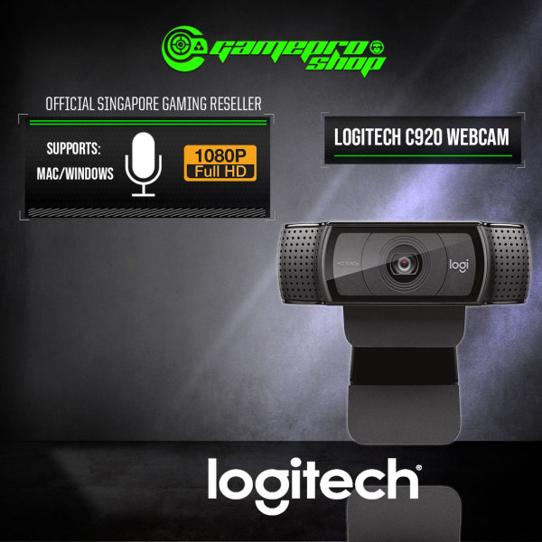 Logitech C920 FULL HD Pro Webcam for Streaming / Video Conferencing