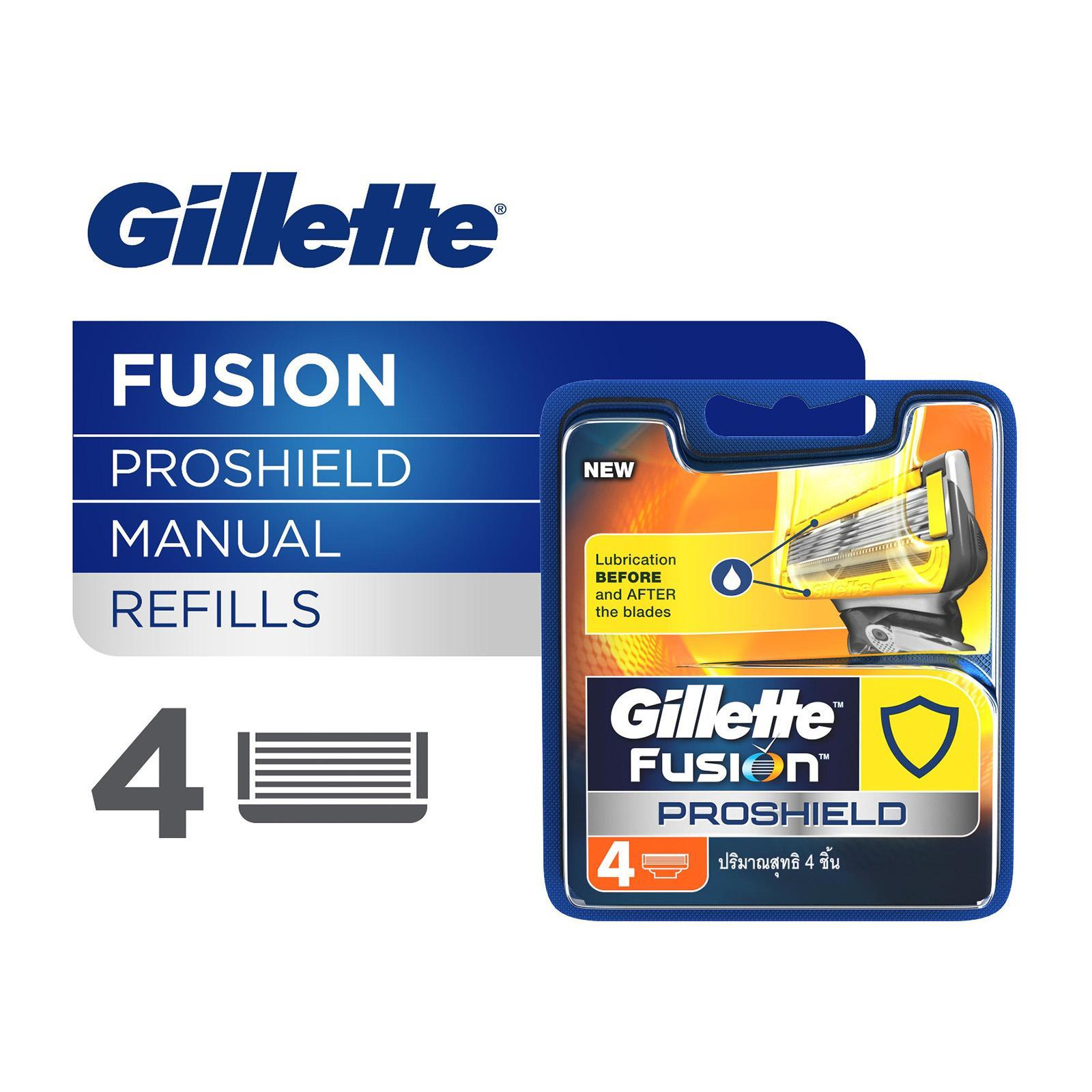 Gillette Fusion Proshield Manual Razor Cartridge Refills - 4PCS