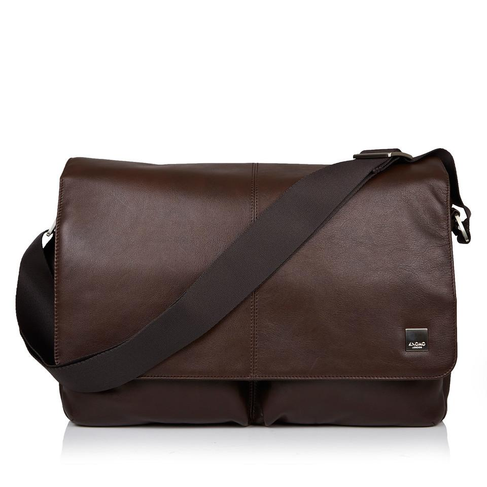 Knomo Kobe 15 Soft Leather Messenger Bag (Brown)
