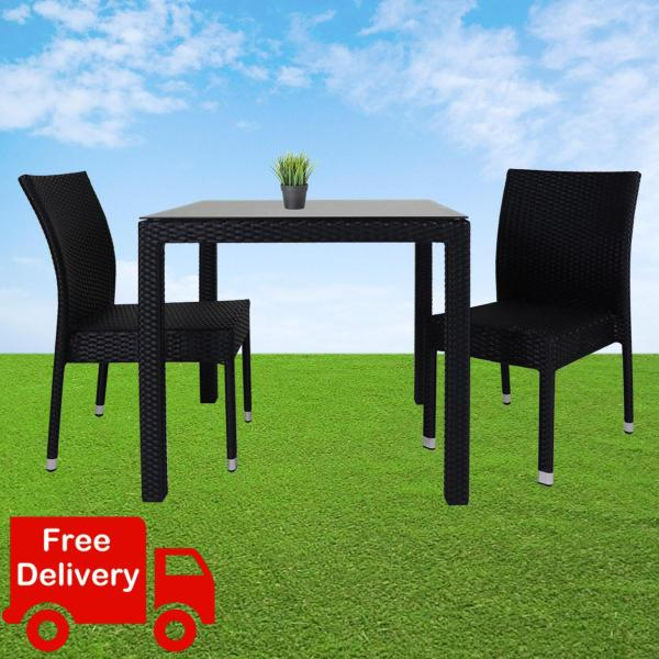 Outdoor Dining Set, Table + Chairs. Outdoor Furniture Living, Wicker Table. FREE Assembly
