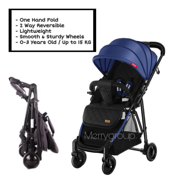 New Arrival 2 Way Reversible One Hand Fold Lightweight Baby Stroller Children Kid Toddler Newborn Infant Portable Compact Baby Pram Check In Kg Waterproof Folding Trolley Carriage Sets Pockit Multifunction Double Twins Girl Boy High Chair Reclinable Seat Singapore
