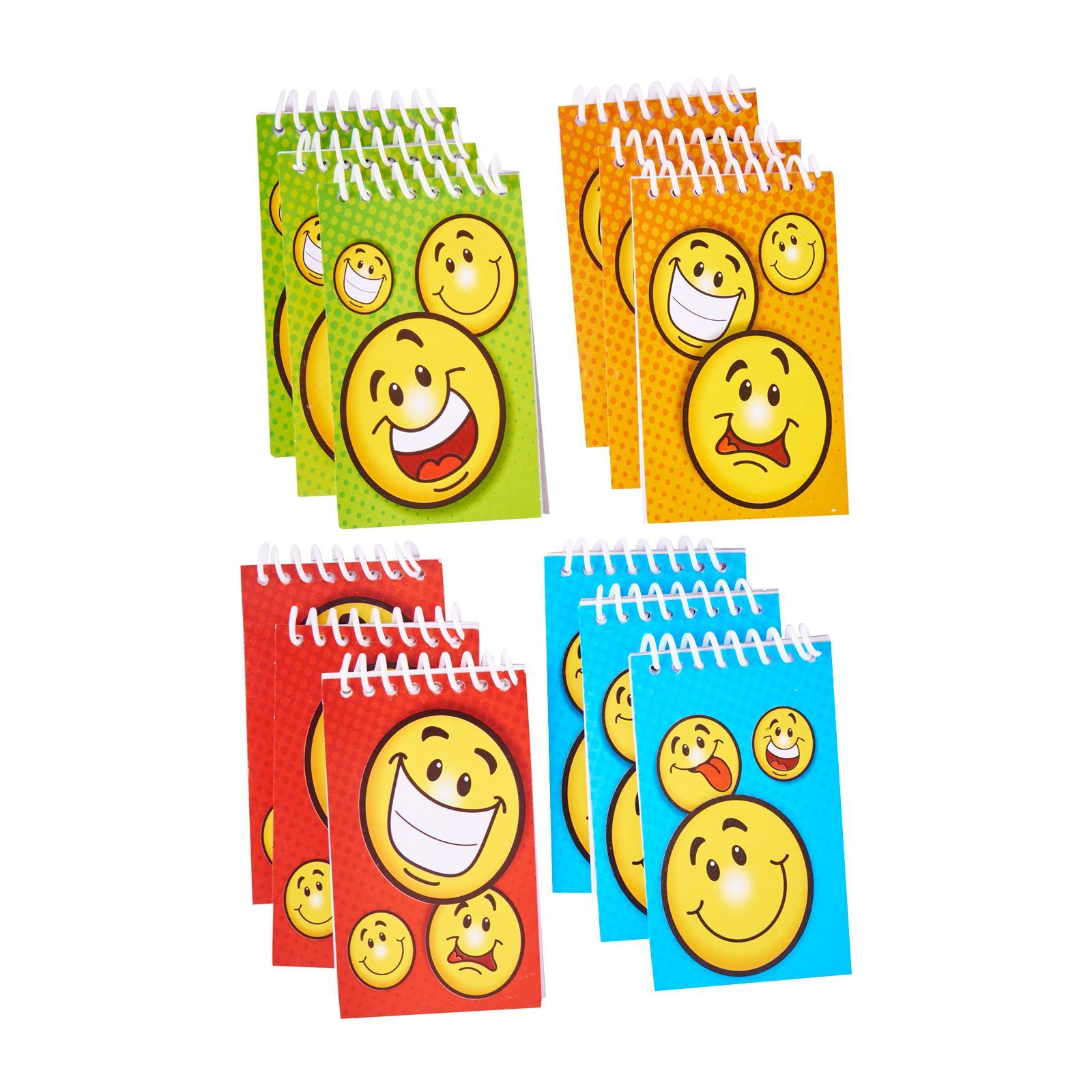 Fun Express Smile Face Notebooks 12 Pack