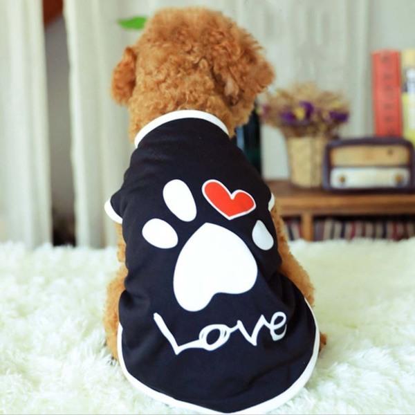 SDRGJY Trang Phục Tình Yêu Mùa Xuân Bằng Cotton, Áo Gi-lê Hình Trái Tim Cho Chó, Pet Quần Áo Coat Con Chó Con T-Shirt