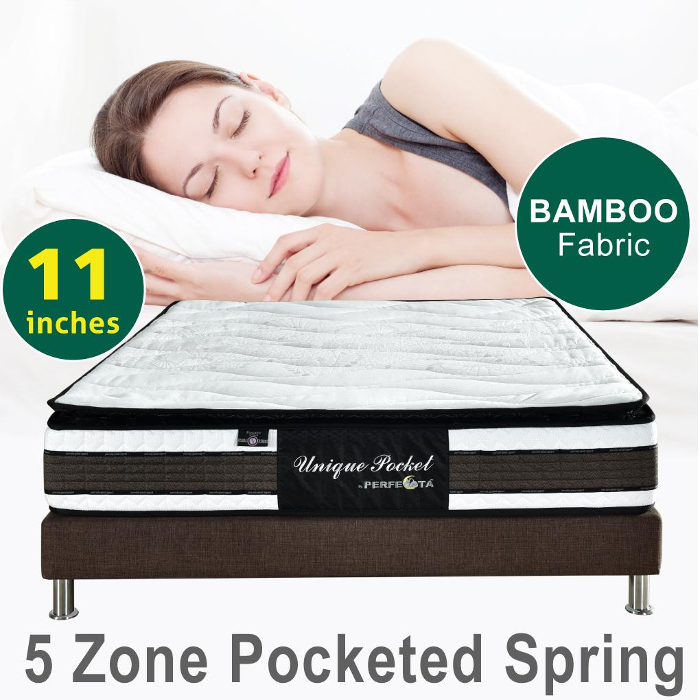 Unique Pocket Mattress * 11 inches * 5 Zone Individually Pocketed Spring * Fast and Free Delivery