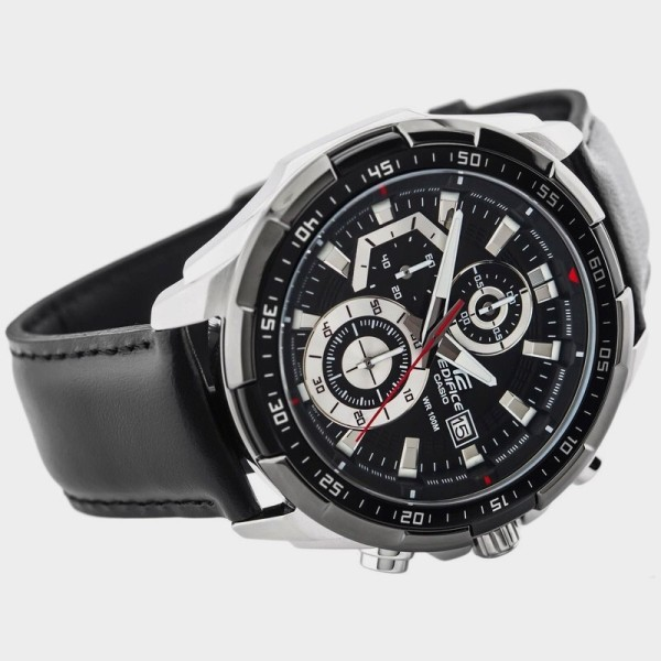 (Ready Stock)Original Edifice EFR-539L-7 Chronograph Leather Strap Analog Mens Watch Malaysia