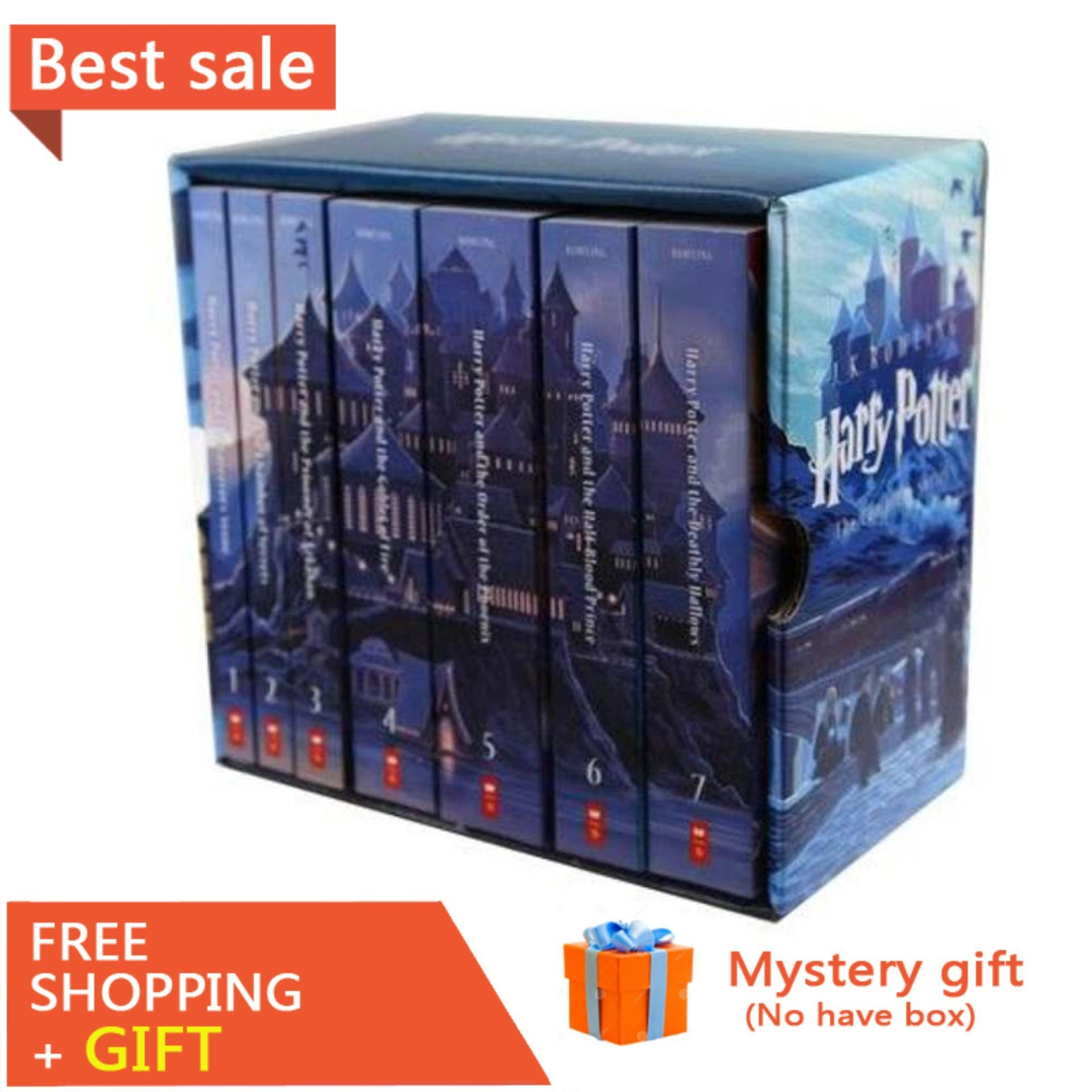 7 Books/ Set Harry Potter Books Adult Foreign Novels English Story Book for Kids Spell Book English Reading Books for Kids Children Gifts