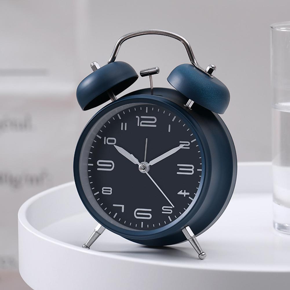 Nơi bán 4 inch Kim Loại Hai Chuông Đồng Hồ Báo Thức có Đèn Ngủ để Đầu Giường