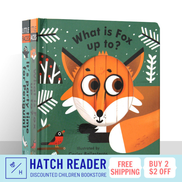 [SG Stock] Little Faces: What Is Fox Up To?  INTERACTIVE english story book for children child kids baby 0 1 2 3 years old sensory play flash card picture