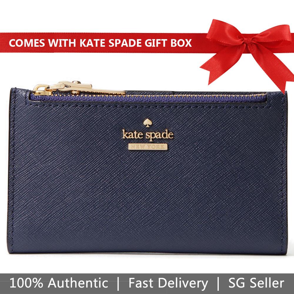Kate Spade Wallet In Gift Box Small Wallet Cameron Street Mikey Blazer Blue # PWRU6720