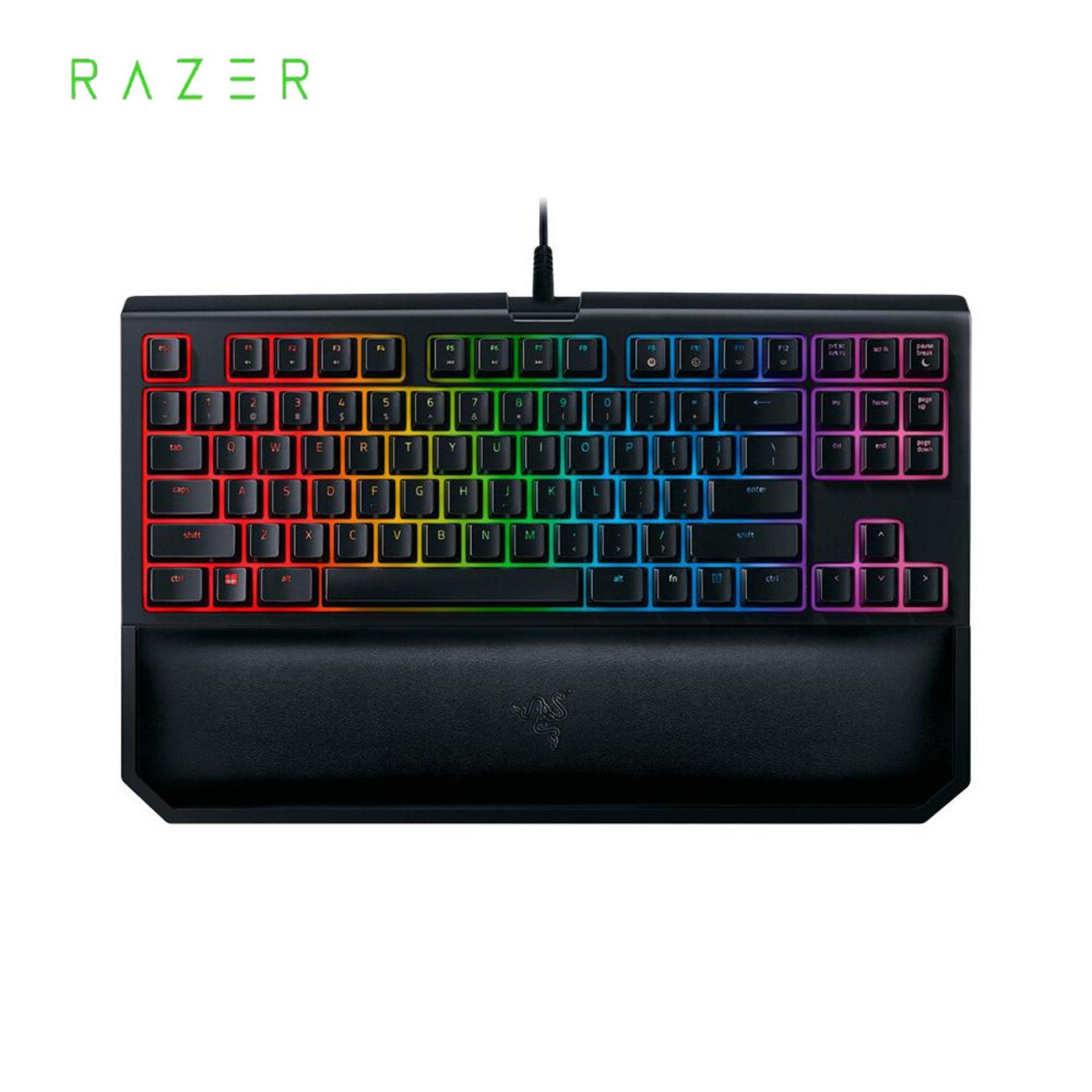Razer BlackWidow Tournament Edition Chroma V2 Mechanical Gaming Keyboard RGB Backlight 87 Key Ergonomic Orange Switch Singapore