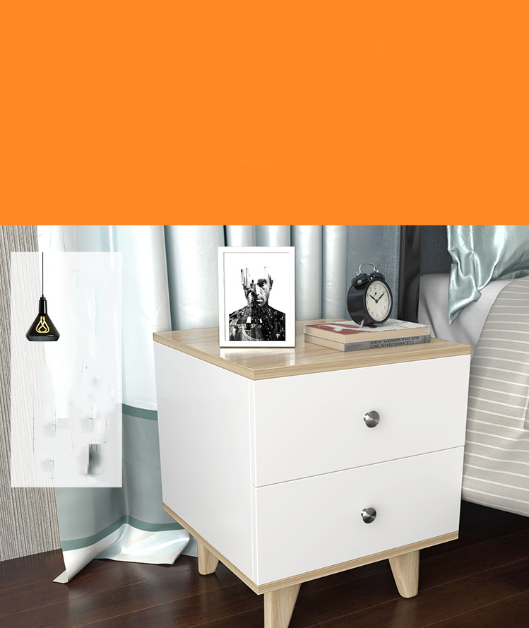 LOGUT Bedside table Nordic style simple modern white colour  bedside table bedroom storage cabinet storage cabinet
