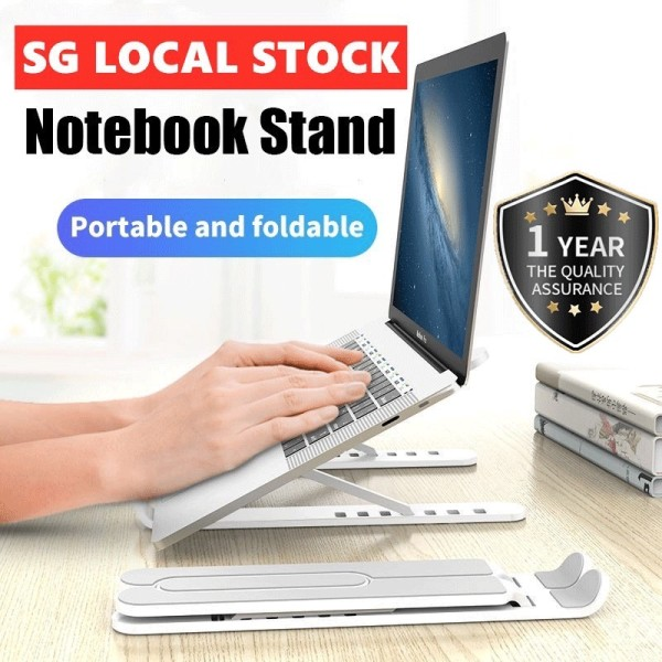 ✅[SG Ready Stock] Laptop Stand Portable Real Aluminium Macbook Stand Adjustable Height Fits ALL Laptop