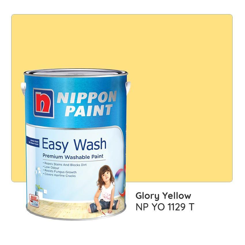 Nippon Paint Easy Wash NP YO 1129 T (Glory Yellow) 1L