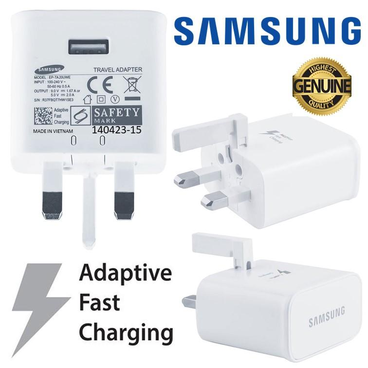 Original Samsung S10 S9 S8 Note 9 Note 8 Travel Adaptive Fast Charge Charger Adaptor By Somymall.