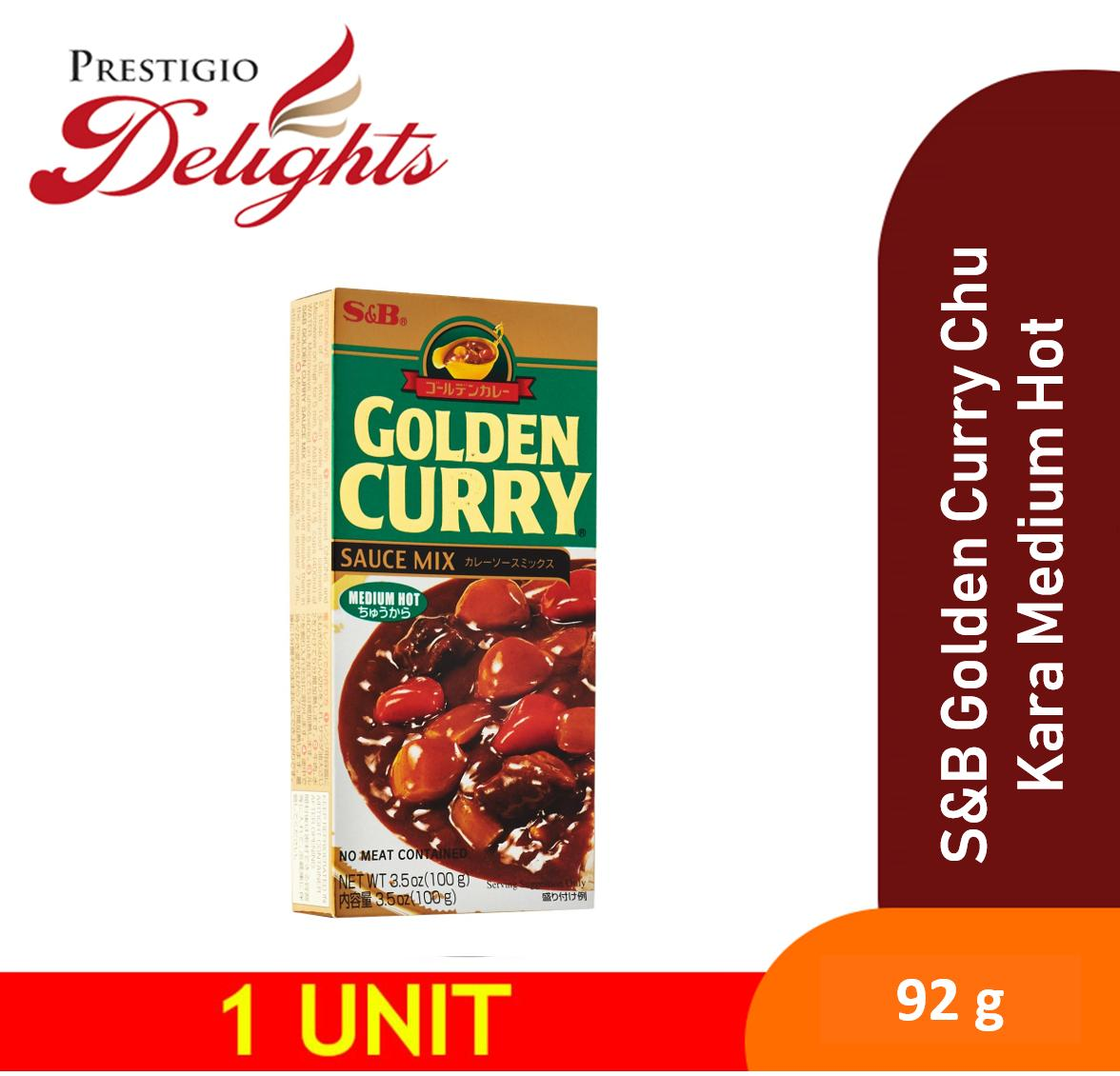 S&b Golden Curry Chu Kara Medium Hot Instant Curry 92g By Prestigio Delights.