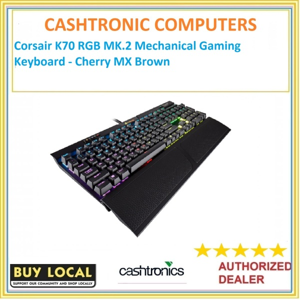 Corsair K70 RGB MK.2 Mechanical Gaming Keyboard - Cherry MX Brown Singapore