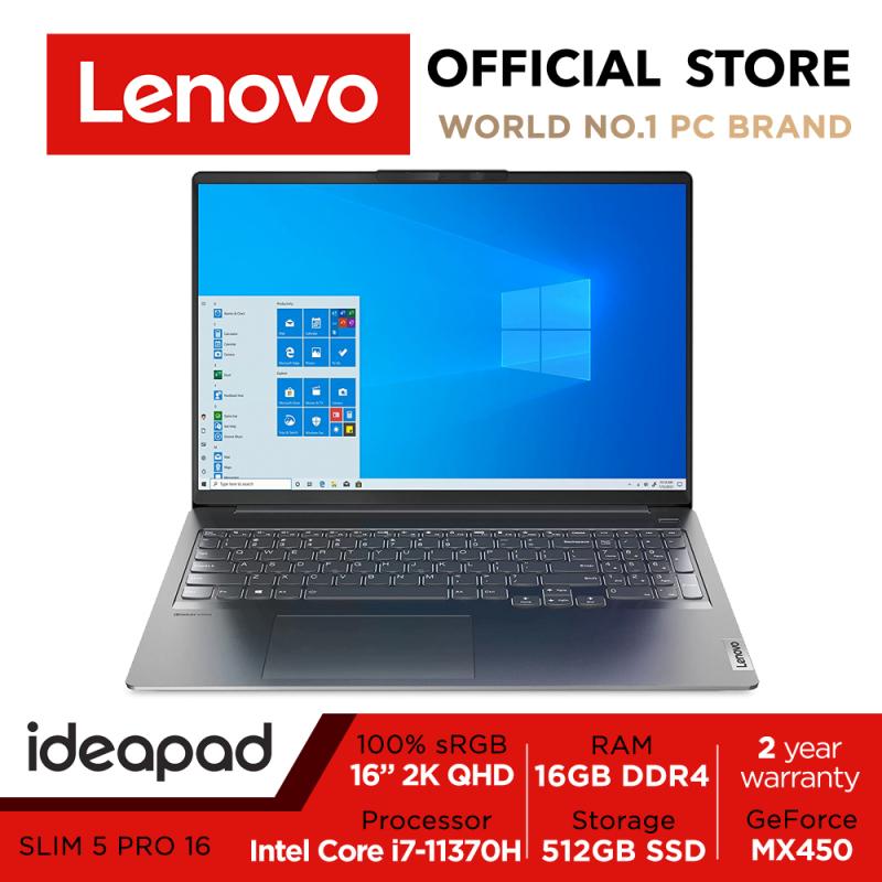 Lenovo IdeaPad Slim 5i Pro | 82L90009SB | Intel Core i7-11370H | GeForce MX450 | 16inch 2.5K (2560 x 1600) IPS | 16GB DDR4 | 512GB SSD | 2Y Premium Care